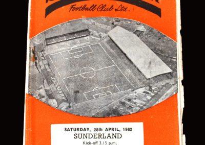 Swansea v Sunderland 28.04.1962
