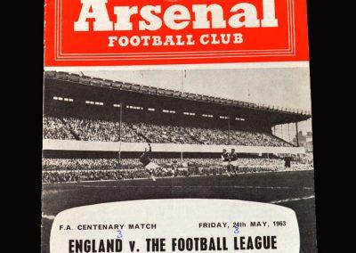 England v The Football League 24.05.1963
