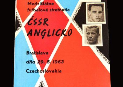 Czechoslovakia v England 29.05.1963