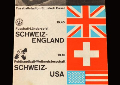 "Switzerland v England 05.06.1963 (Alf announces ""we will win the World Cup in 1966"")"