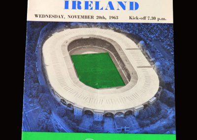 England v Northern Ireland 20.11.1963