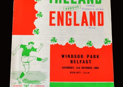 Northern Ireland v England 03.10.1964