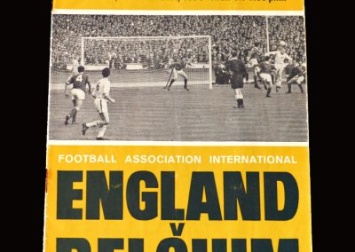 England v Belgium 21.10.1964