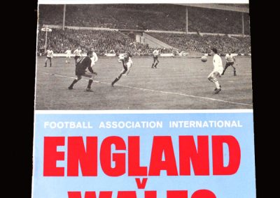 England v Wales 18.11.1964