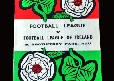 Football League v Irish League 27.10.1965