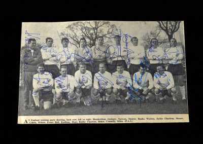 Spain v England 08.12.1965 - Signed Team Photo - Where it all clicked