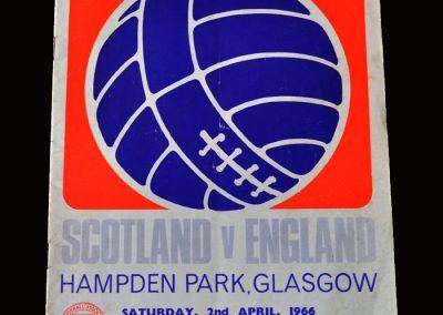 Scotland v England 02.04.1966