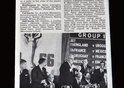 England v Young England 13.05.1966 - Drawing the World Cup Groups