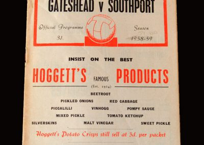 Gateshead v Southport 29.08.1959