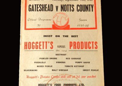 Gateshead v Notts County 07.09.1959