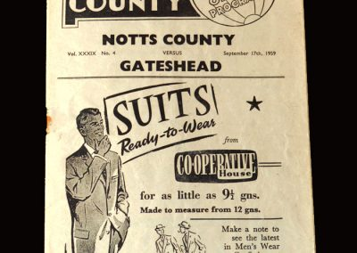 Gateshead v Notts County 17.09.1959