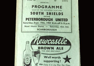 South Shields v Peterborough 19.09.1959