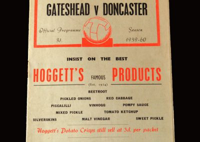 Gateshead v Doncaster 26.09.1959