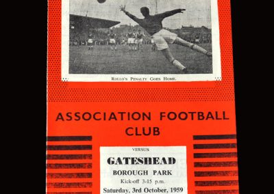 Gateshead v Workington 03.10.1959