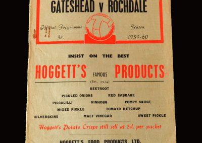 Gateshead v Rochdale 05.10.1959