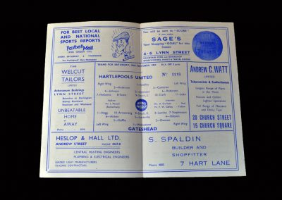 Gateshead v Hartlepool 10.10.1959