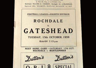 Gateshead v Rochdale 13.10.1959