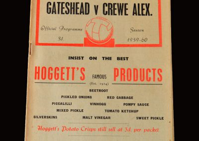 Gateshead v Crewe 17.10.1959