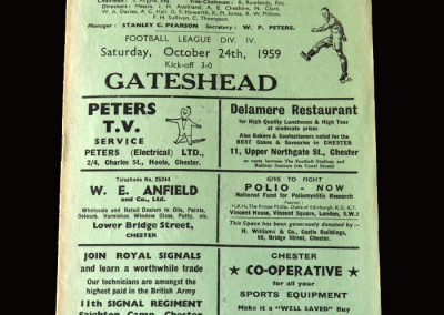 Gateshead v Chester 24.10.1959