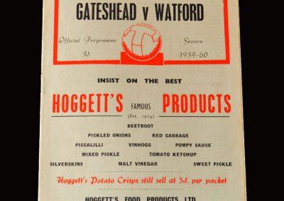 Gateshead v Watford 28.11.1959