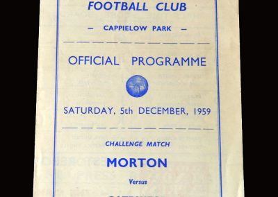 Gateshead v Greenock Morton 05.12.1959