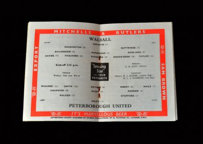 Peterbrough v Walsall 05.12.1959