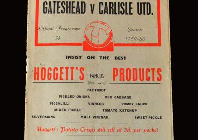 Gateshead v Carlisle 12.12.1959