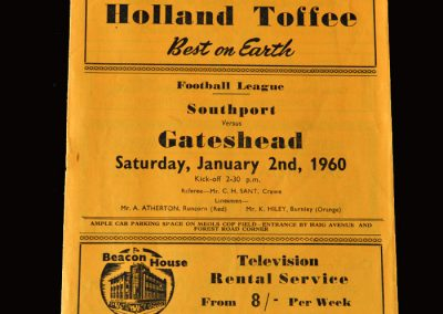 Gateshead v Southport 02.01.1960