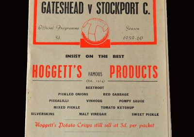 Gateshead v Stockport 09.01.1960
