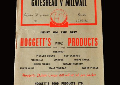 Gateshead v Millwall 16.01.1960