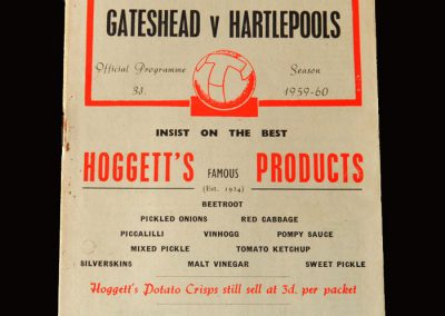 Gateshead v Hartlepool 27.02.1960 (The next time these teams would play each other competitively would be 26.12.2017)
