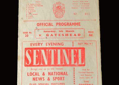 Gateshead v Crewe 05.03.1960