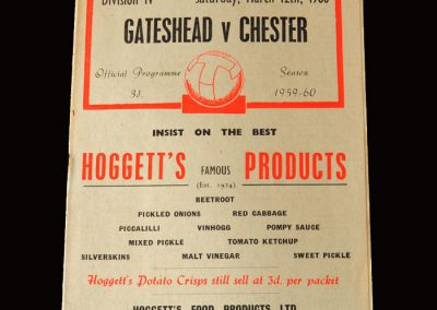 Gateshead v Chester 12.03.1960