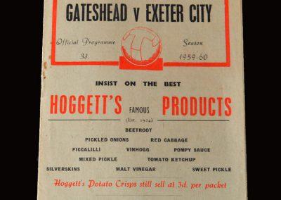 Gateshead v Exeter 09.04.1960