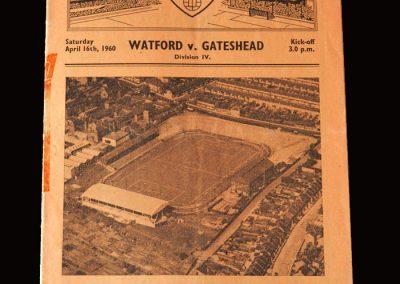 Gateshead v Watford 16.04.1960