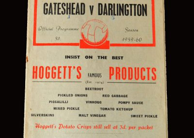 Gateshead v Darlington 18.04.1960