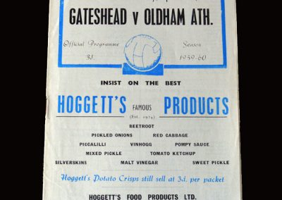 Gateshead v Oldham 23.04.1960