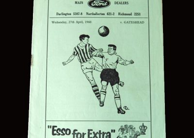 Gateshead v Darlington 27.04.1960 (Durham Snr Semi Final)