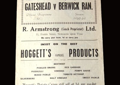Gateshead v Berwick 02.01.1961
