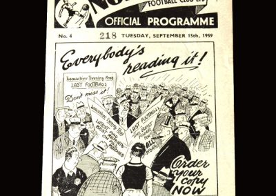 Burnley v Preston 15.09.1959