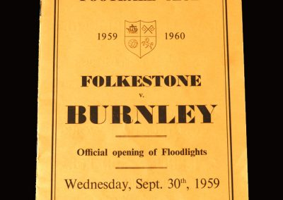 Burnley v Folkestone 30.09.1959