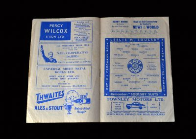 Burnley v Blackburn 17.10.1959