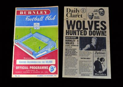 Burnley v Wolves 07.11.1959