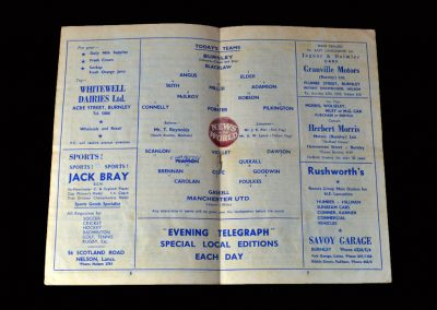 Burnley v Man Utd 28.12.1959