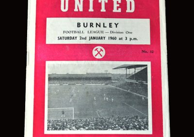 Burnley v West Ham 02.01.1960