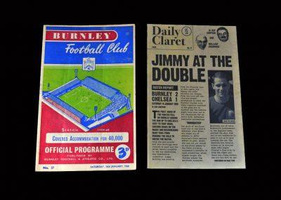 Burnley v Chelsea 16.01.1960