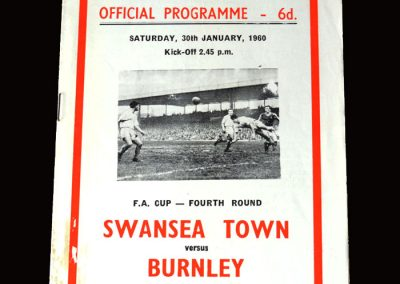 Burnley v Swansea 30.01.1960 (FA Cup Round 4)