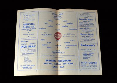 Burnley v Spurs 01.03.1960