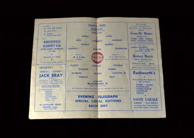 Burnley v Blackburn 05.03.1960