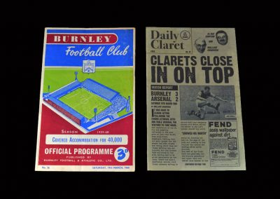 Burnley v Arsenal 19.03.1960